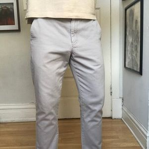 J. Crew Slim Fit Cotton Chino Gray Khaki Pants